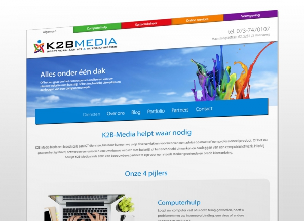 Website K2B-Media vernieuwd